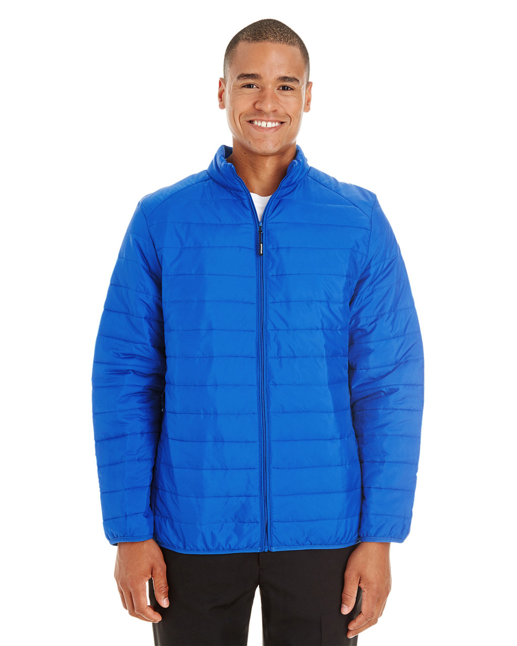 True Royal - CE700 Ash City - Core 365 Men's Prevail Packable Puffer Jacket | Blankclothing.ca