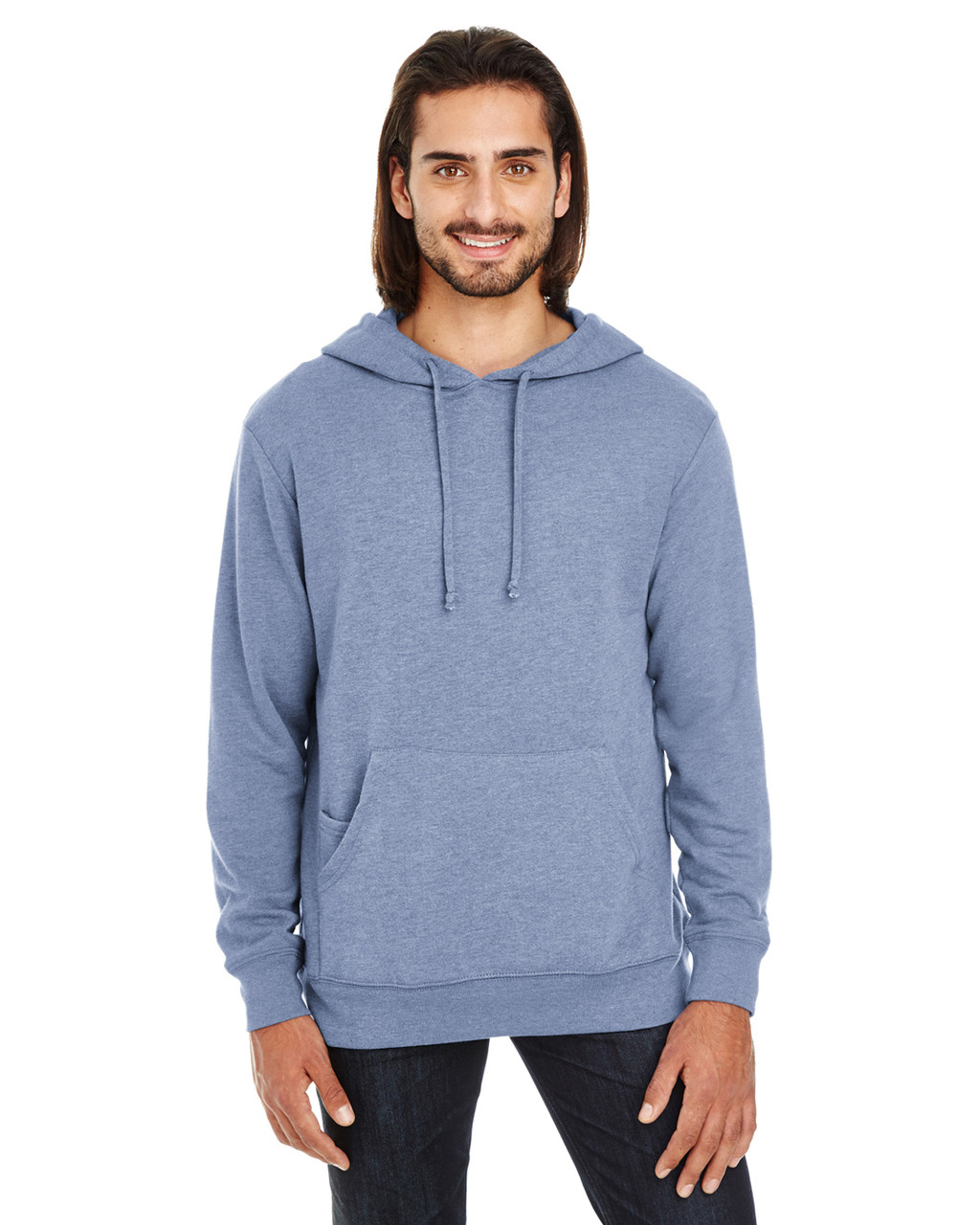 Denim Heather - 321H Threadfast Unisex Triblend French Terry Hoodie | Blankclothing.ca