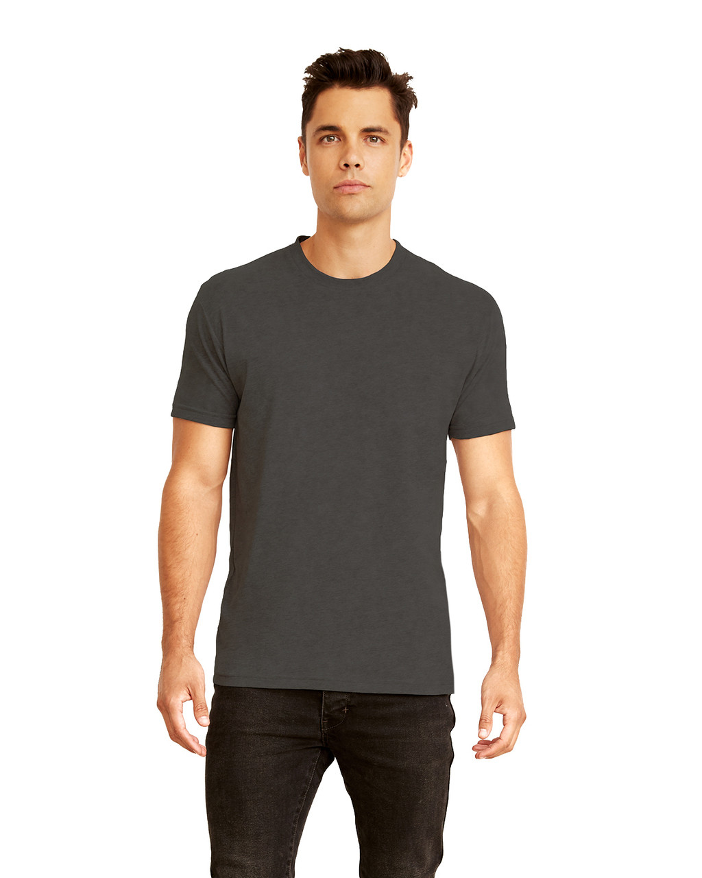 Heather Charcoal - 6410 Next Level Men's Premium Fitted Sueded T-Shirt | Blankclothing.ca