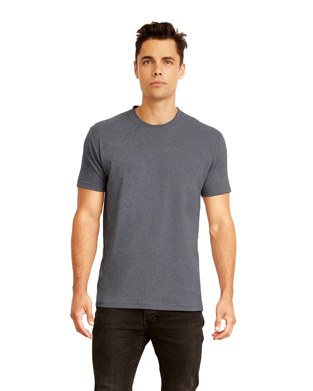 Heather Metal - 6410 Next Level Men's Premium Fitted Sueded T-Shirt | Blankclothing.ca