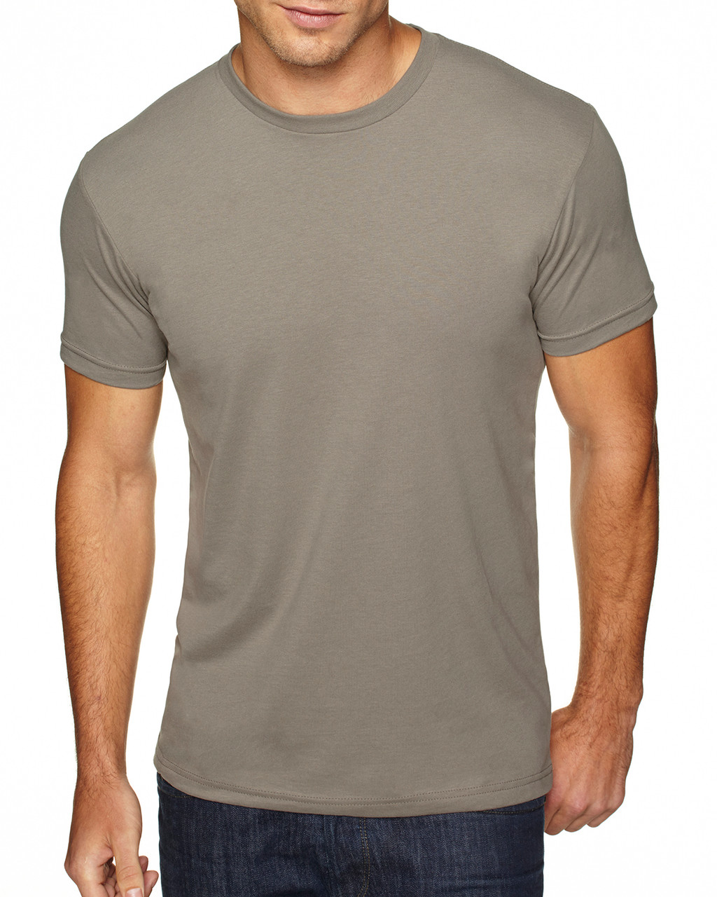 Warm Grey - 6410 Next Level Men's Premium Fitted Sueded T-Shirt | Blankclothing.ca
