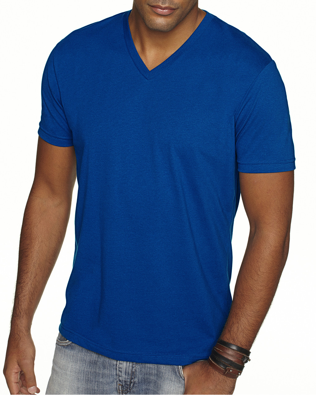 Royal - 6440 Next Level Men's Premium Fitted Sueded V-Neck Tee | Blankclothing.ca