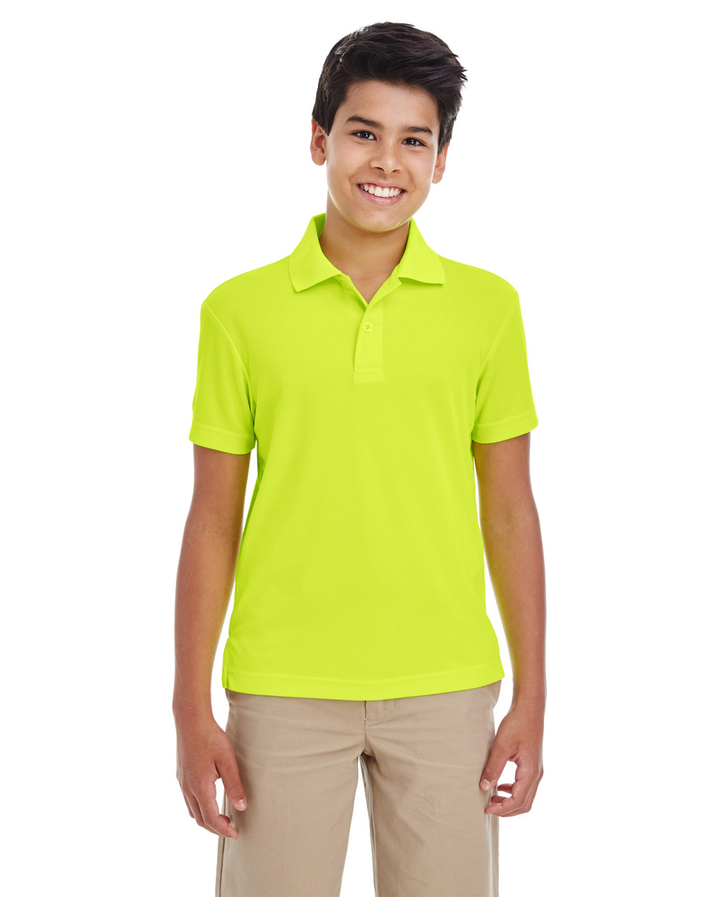 Safety Yellow - 88181Y Ash City - Core 365 Youth Origin Performance Pique Polo Shirt | Blankclothing.ca