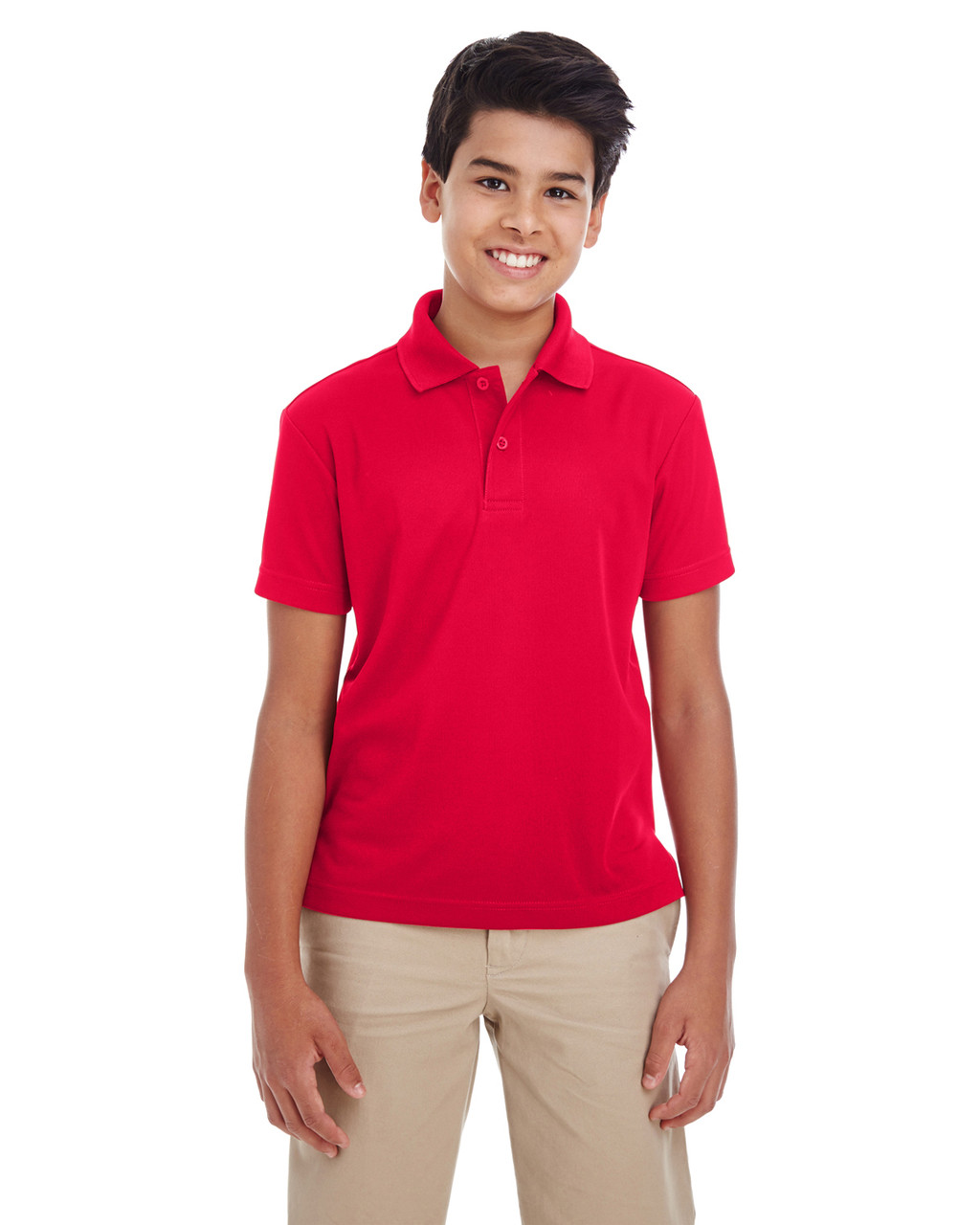 Classic Red - 88181Y Ash City - Core 365 Youth Origin Performance Pique Polo Shirt | Blankclothing.ca