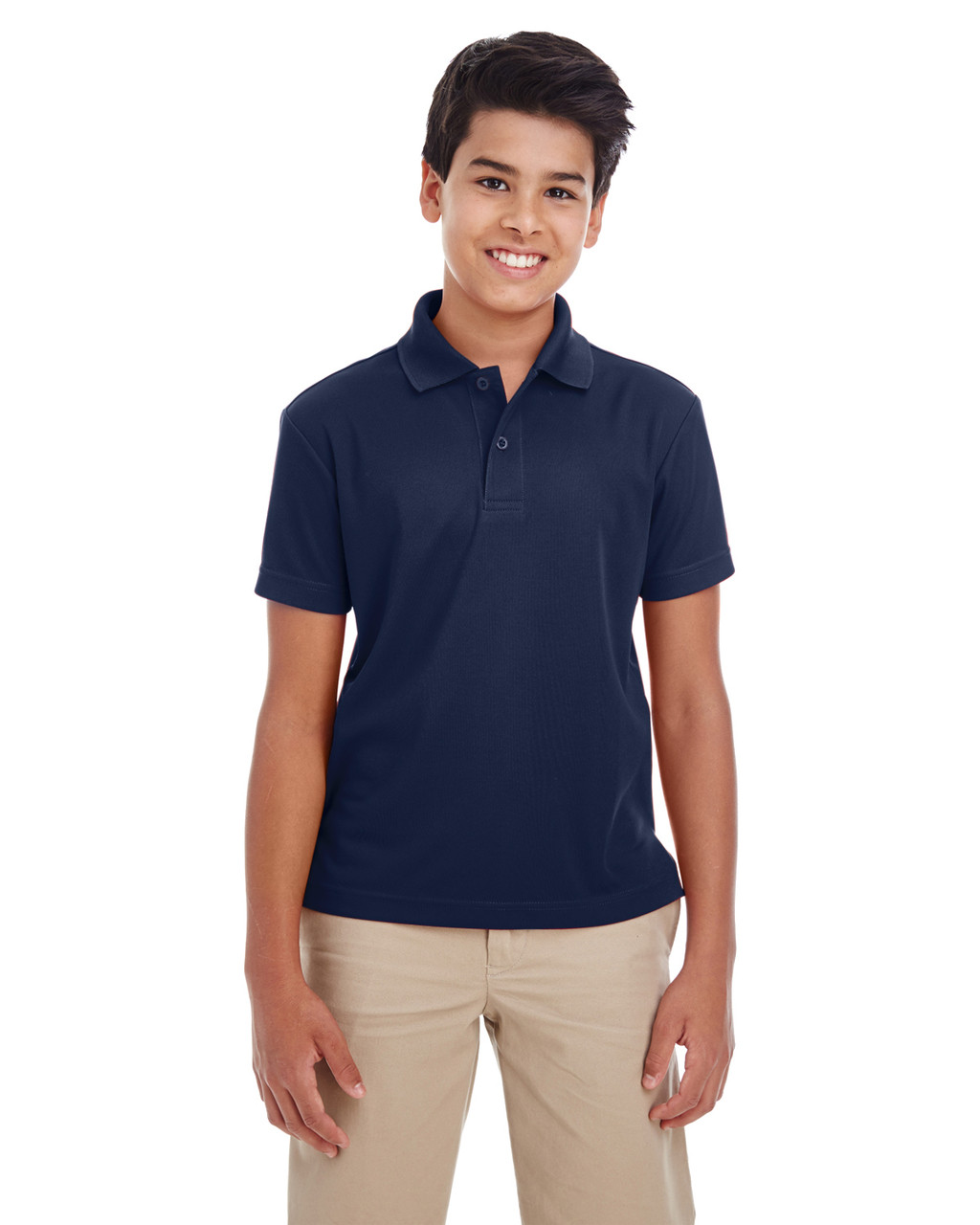 Black - 88181Y Ash City - Core 365 Youth Origin Performance Pique Polo Shirt | Blankclothing.ca