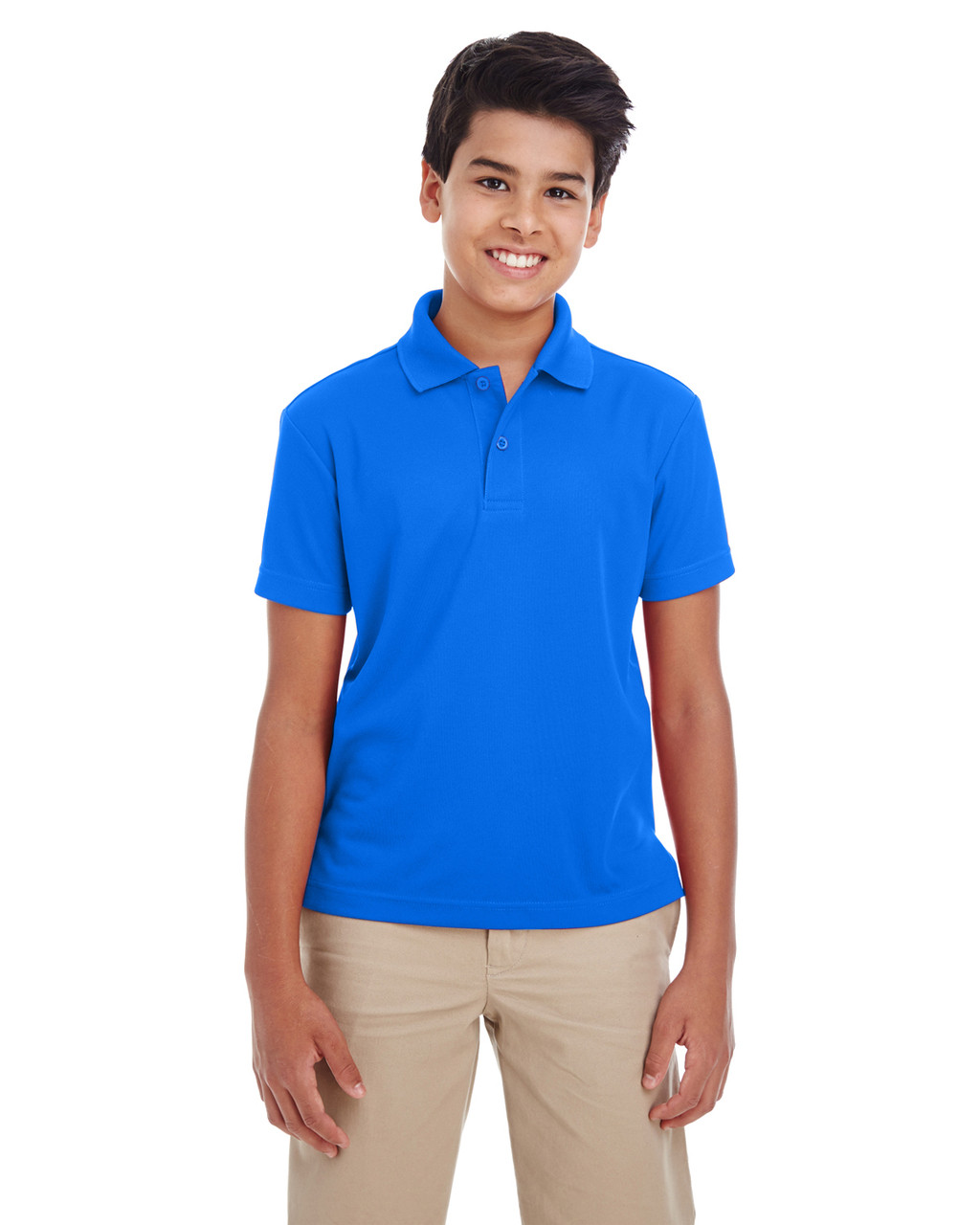 True Royal - 88181Y Ash City - Core 365 Youth Origin Performance Pique Polo Shirt | Blankclothing.ca