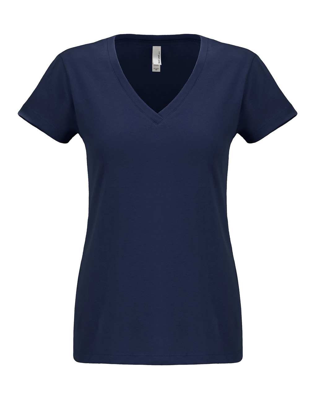 Midnight Navy - N6480 Next Level Ladies Sueded V-Neck Tee | Blankclothing.ca