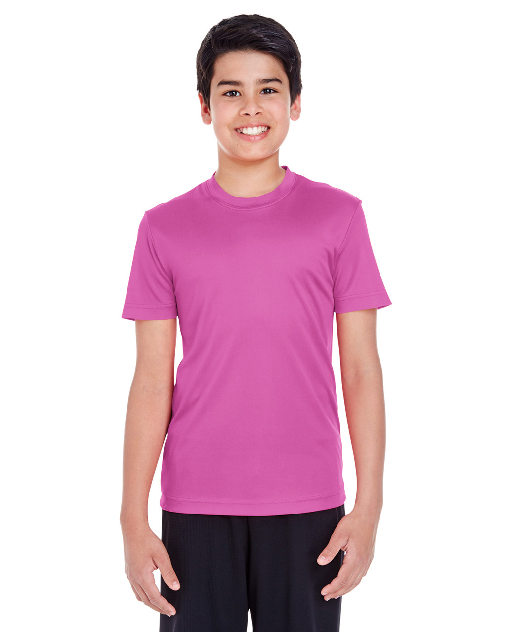 Sport Charity Pink - TT11Y Team 365 Youth Zone Performance Tee   BlankClothing.ca