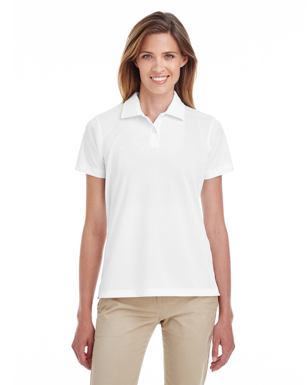 White - TT21W Team 365 Ladies' Command Snag Protection Polo Shirt