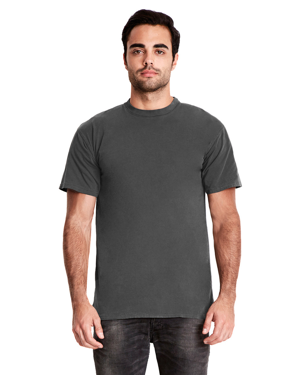 Shadow - 7410 Next Level Adult Inspired Dye Crew T-Shirt | Blankclothing.ca