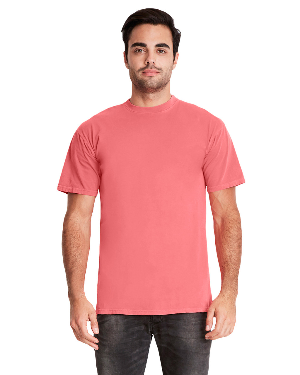 Guava - 7410 Next Level Adult Inspired Dye Crew T-Shirt | Blankclothing.ca
