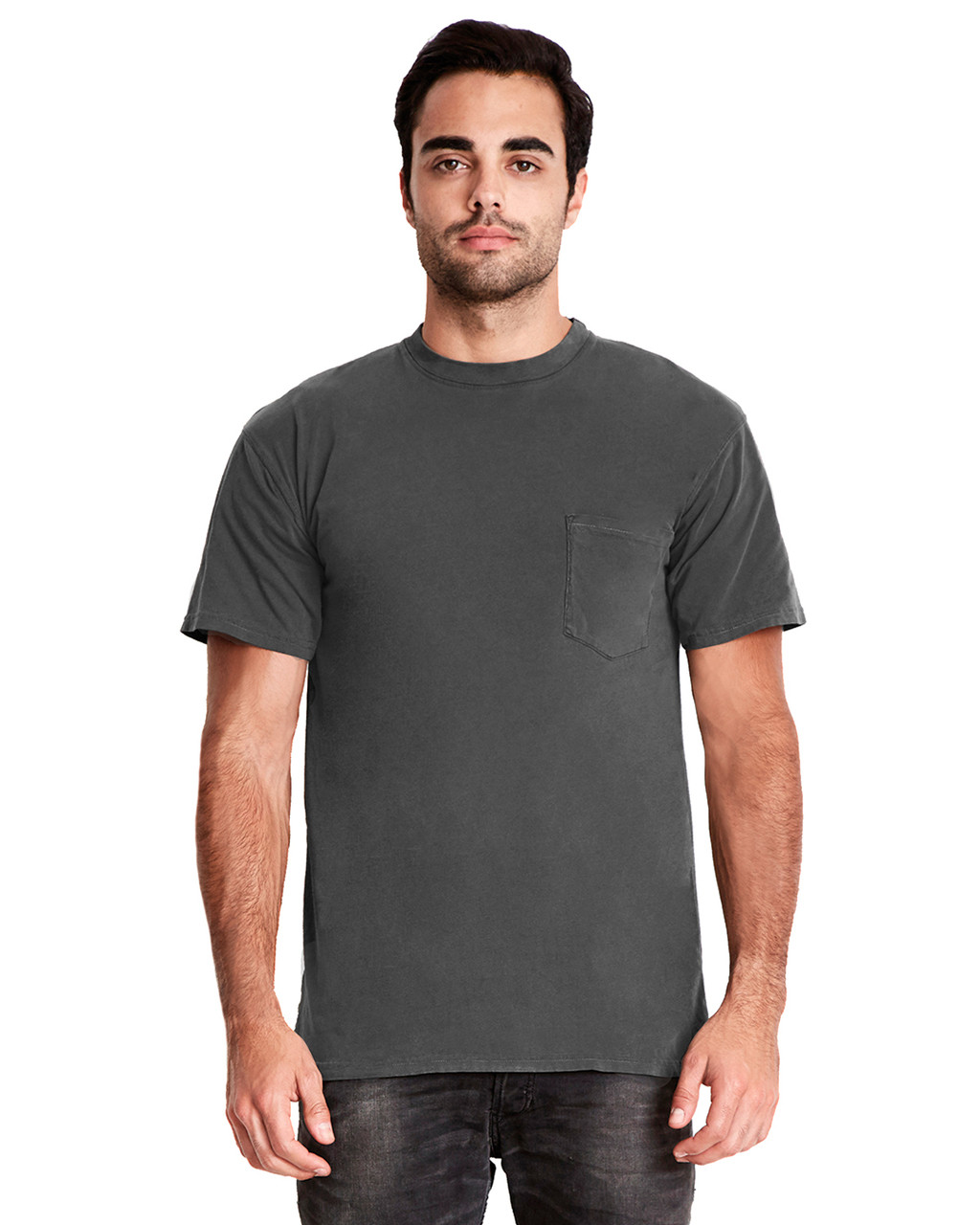 Shadow - 7415 Next Level Adult Inspired Dye Crew T-Shirt with Pocket | Blankclothing.ca