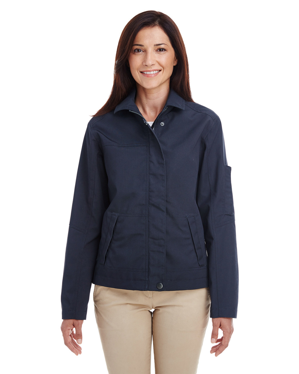 Dark Navy - M705W Harriton Ladies' Auxiliary Canvas Work Jacket