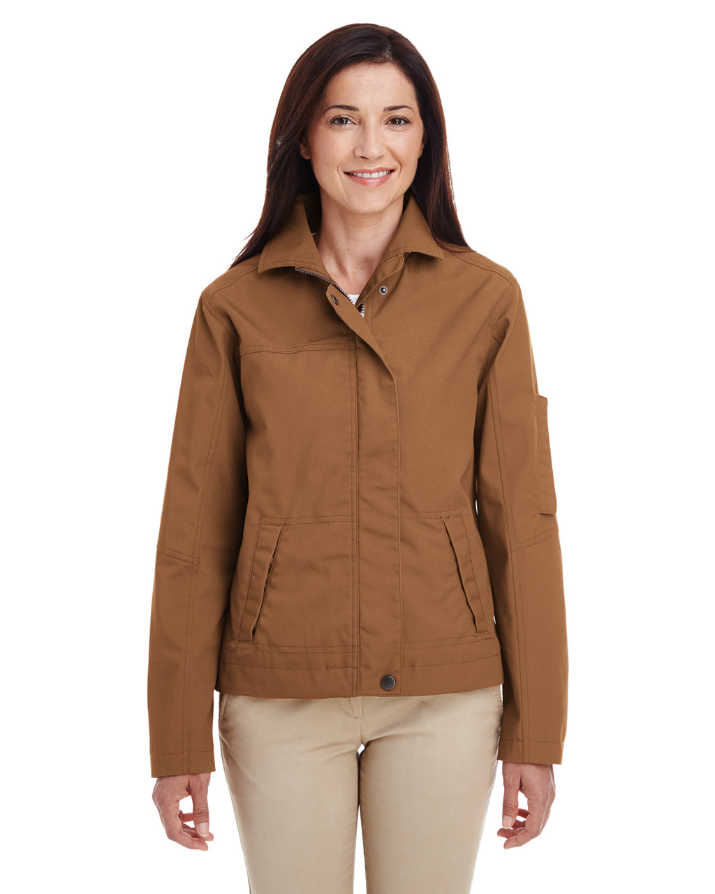 Duck Brown - M705W Harriton Ladies' Auxiliary Canvas Work Jacket