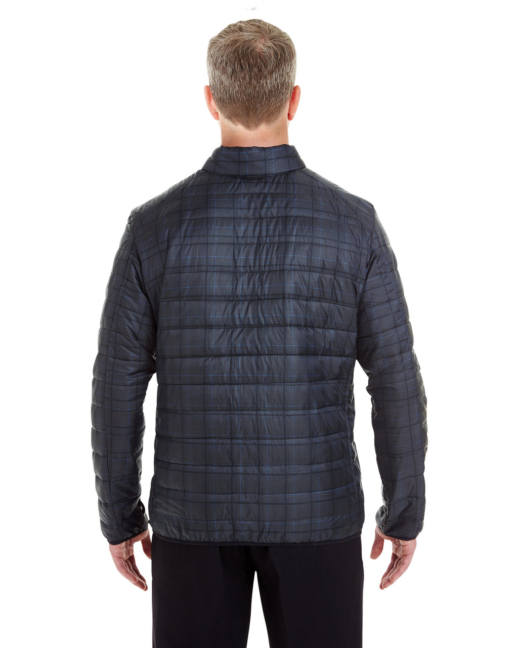 Grid - BACK - NE701 Ash City - North End Men's Portal Interactive Printed Packable Puffer Jacket | Blankclothing.ca