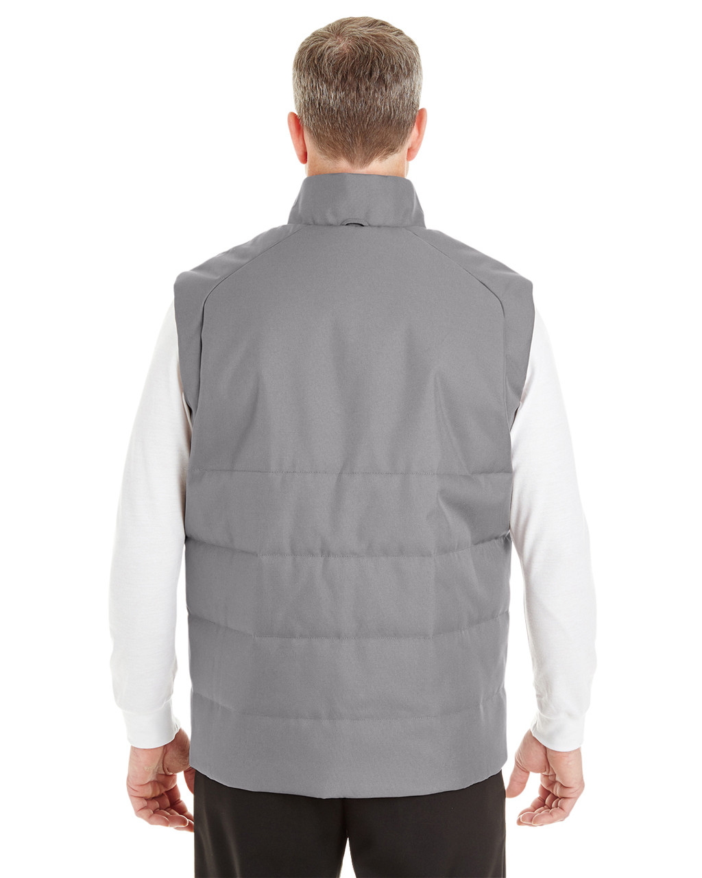 Graphite/Red - BACK - NE702 North End Men's Engage Interactive Insulated Vest | Blankclothing.ca