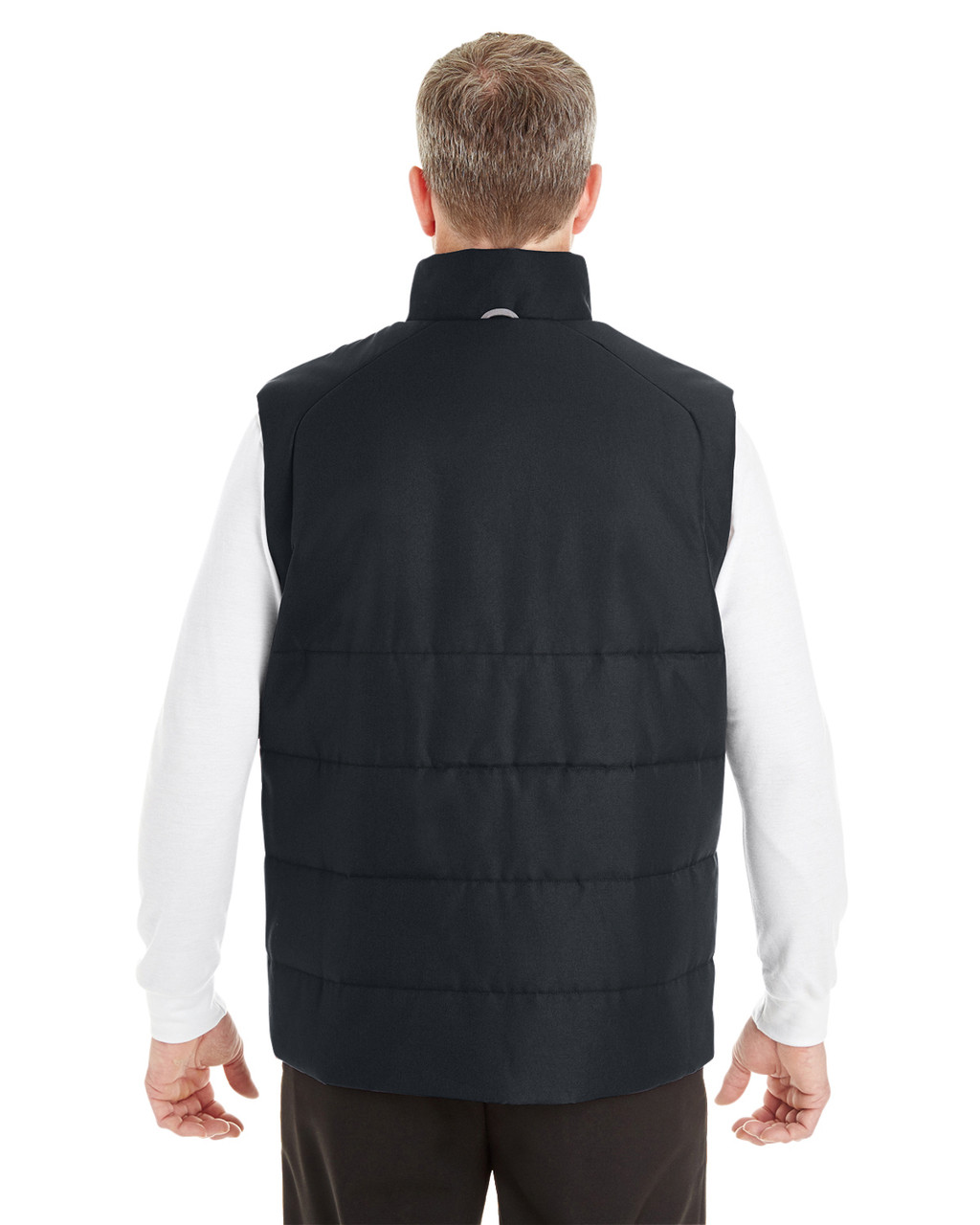 Black/Graphite - BACK - NE702 North End Men's Engage Interactive Insulated Vest | Blankclothing.ca