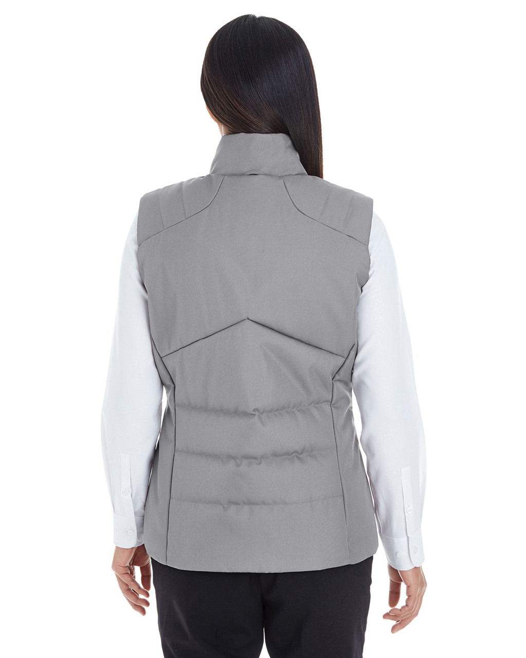 Graphite/Red - BACK - NE702W Ash City - North End Ladies' Engage Interactive Insulated Vest Blankclothing.ca
