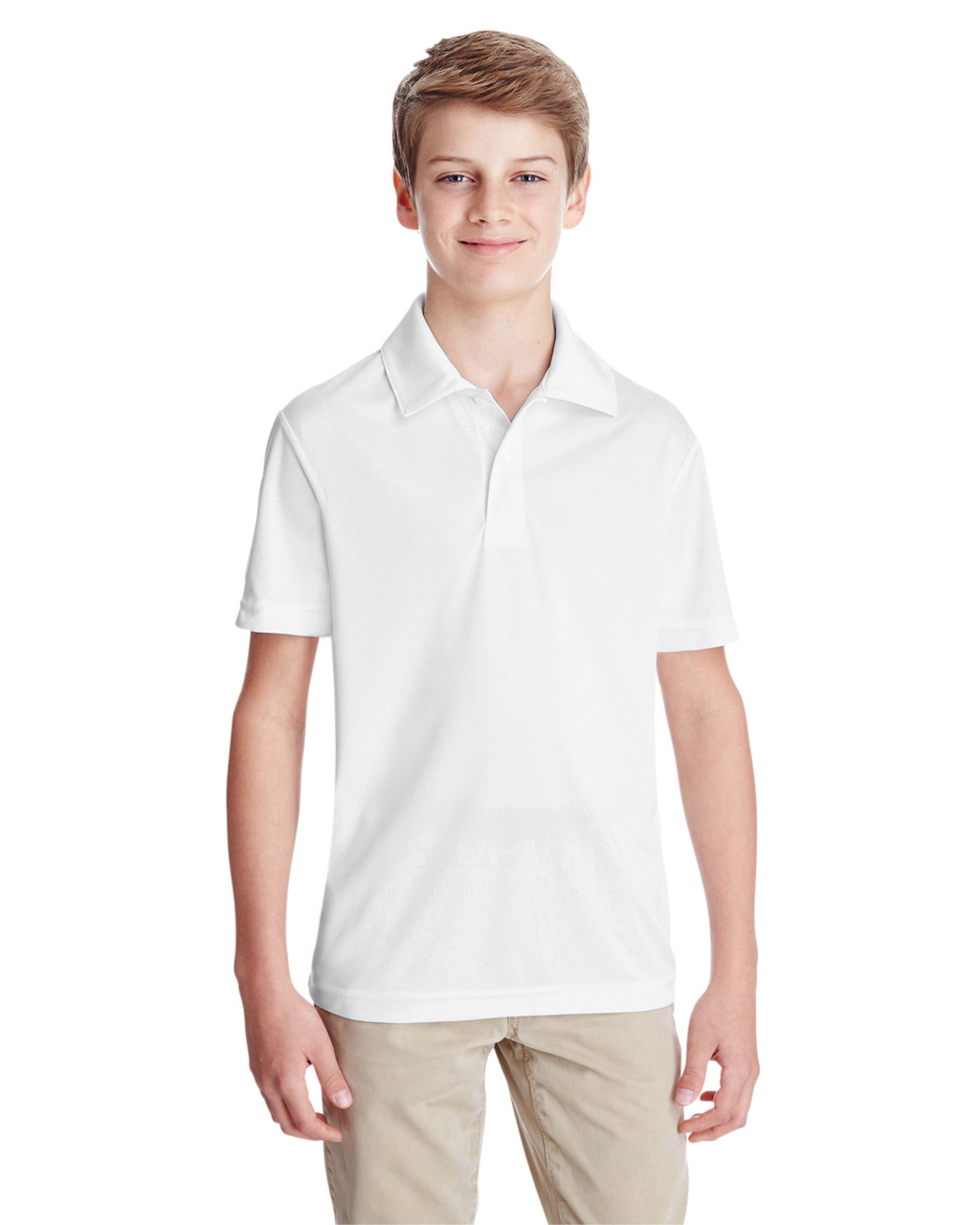 White - TT51Y Team 365 Youth Zone Performance Polo Shirt