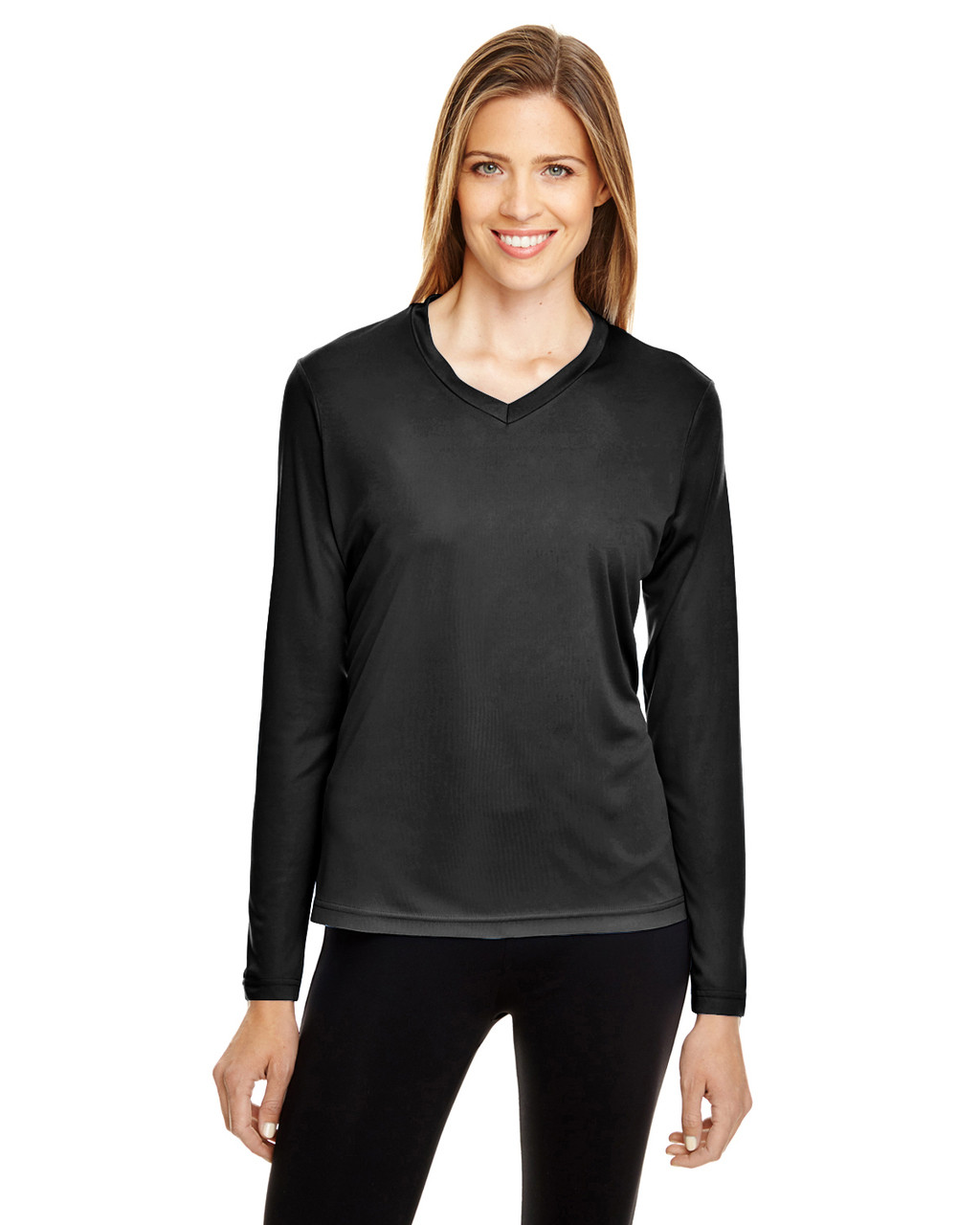 Black - TT11WL Team 365 Ladies' Zone Performance Long-Sleeve T-Shirt