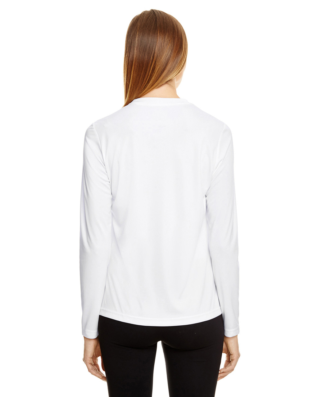 White - TT11WL Team 365 Ladies' Zone Performance Long-Sleeve T-Shirt
