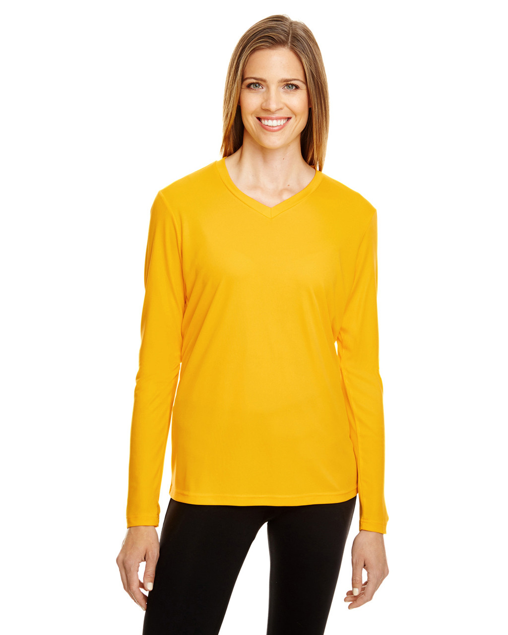 Sport Athletic Gold - TT11WL Team 365 Ladies' Zone Performance Long-Sleeve T-Shirt
