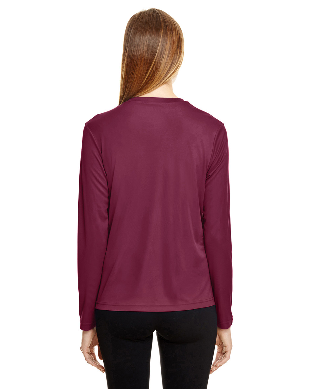 Sport Maroon - TT11WL Team 365 Ladies' Zone Performance Long-Sleeve T-Shirt
