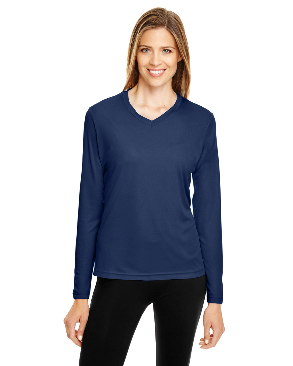 Sport Dark Navy - TT11WL Team 365 Ladies' Zone Performance Long-Sleeve T-Shirt