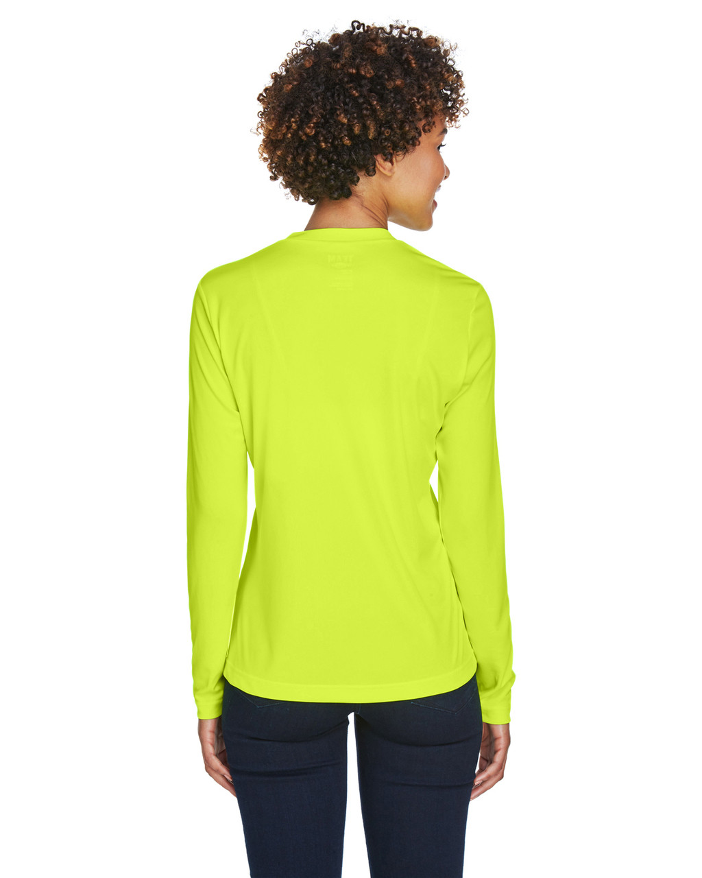 Safety Yellow - TT11WL Team 365 Ladies' Zone Performance Long-Sleeve T-Shirt