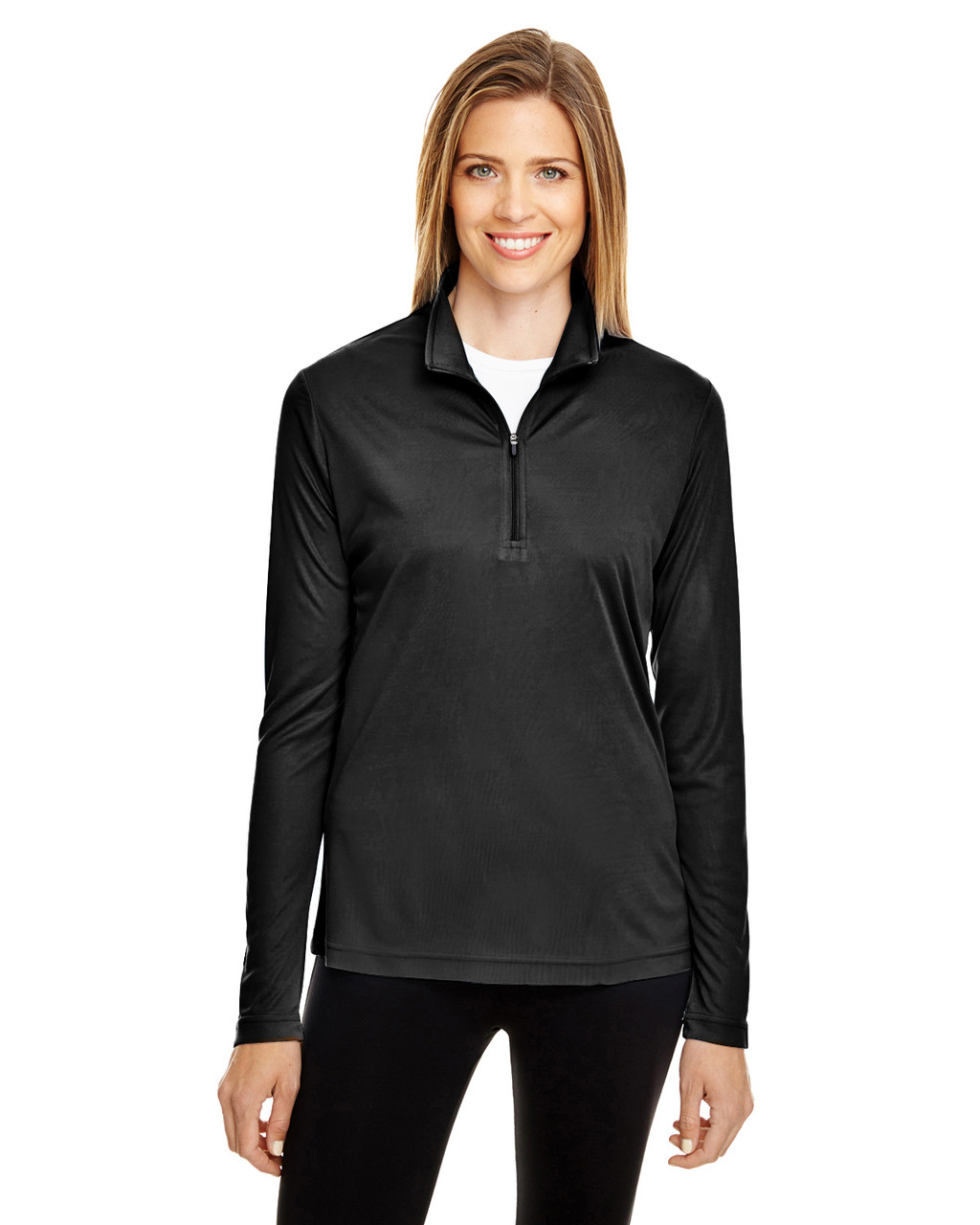 Black - TT31W Team 365 Ladies' Zone Performance Quarter-Zip Shirt