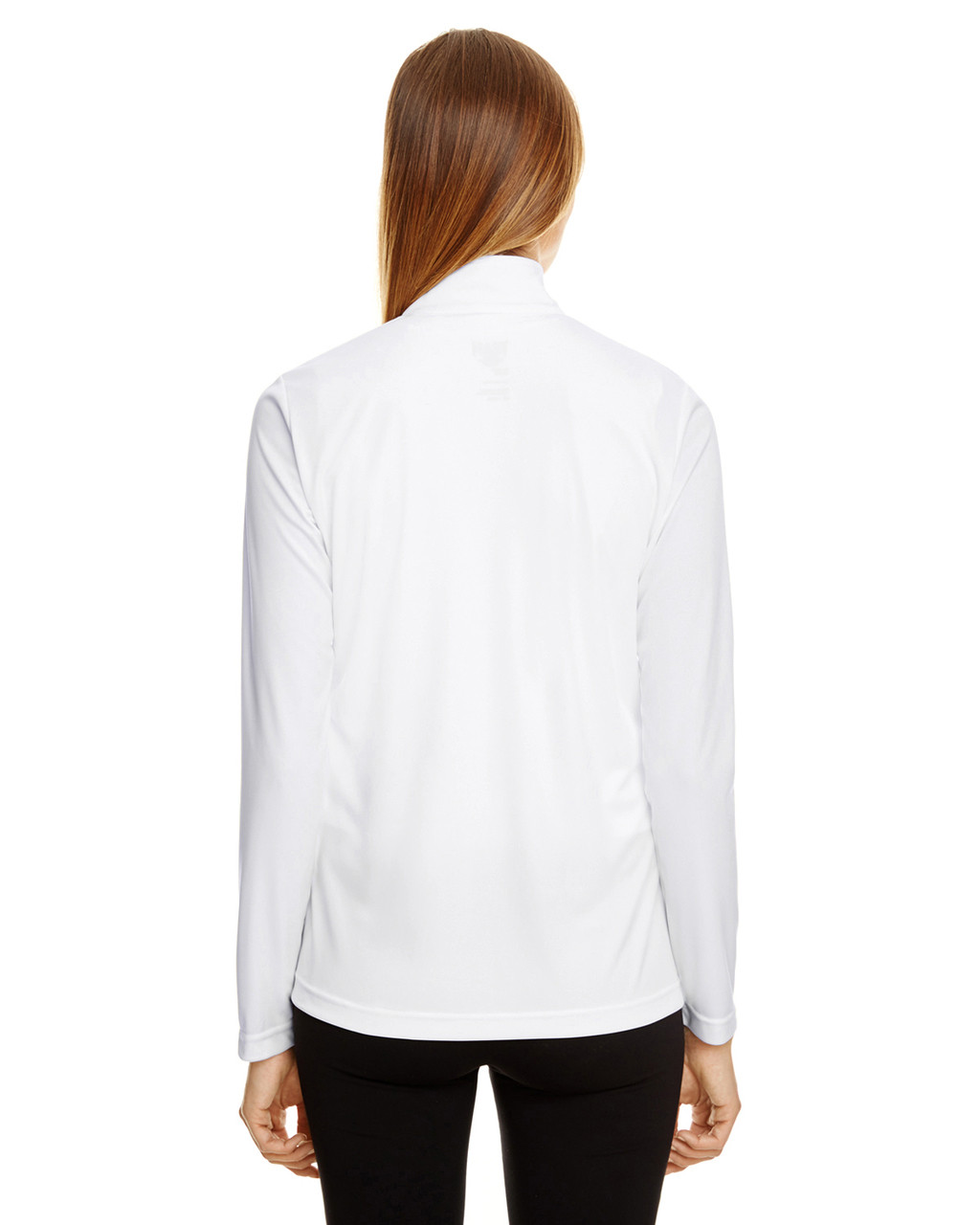 White - TT31W Team 365 Ladies' Zone Performance Quarter-Zip Shirt