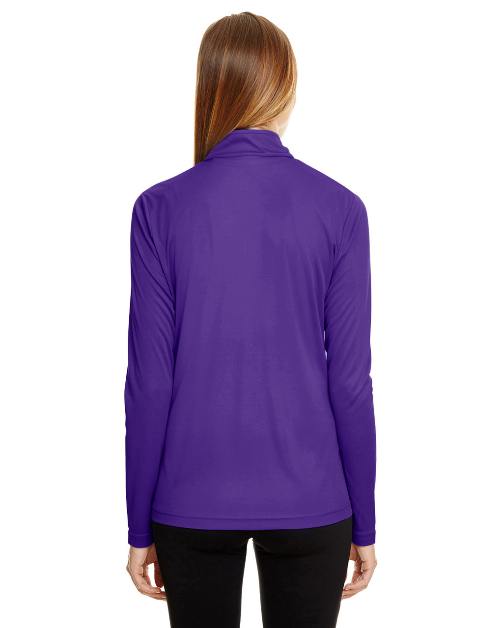 Sport Purple - TT31W Team 365 Ladies' Zone Performance Quarter-Zip Shirt