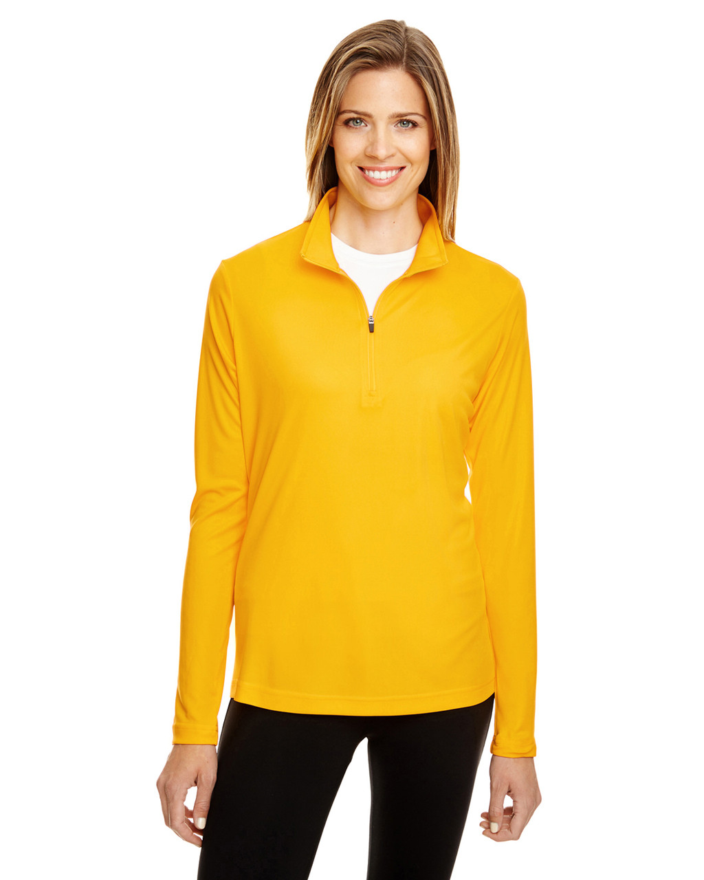 Sport Athletic Gold - TT31W Team 365 Ladies' Zone Performance Quarter-Zip Shirt