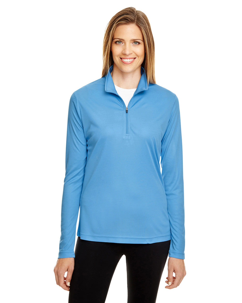 Sport Light Blue - TT31W Team 365 Ladies' Zone Performance Quarter-Zip Shirt