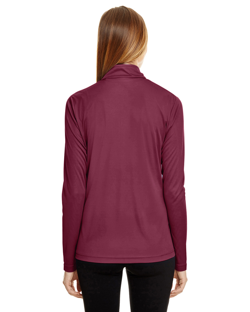 Sport Maroon - TT31W Team 365 Ladies' Zone Performance Quarter-Zip Shirt