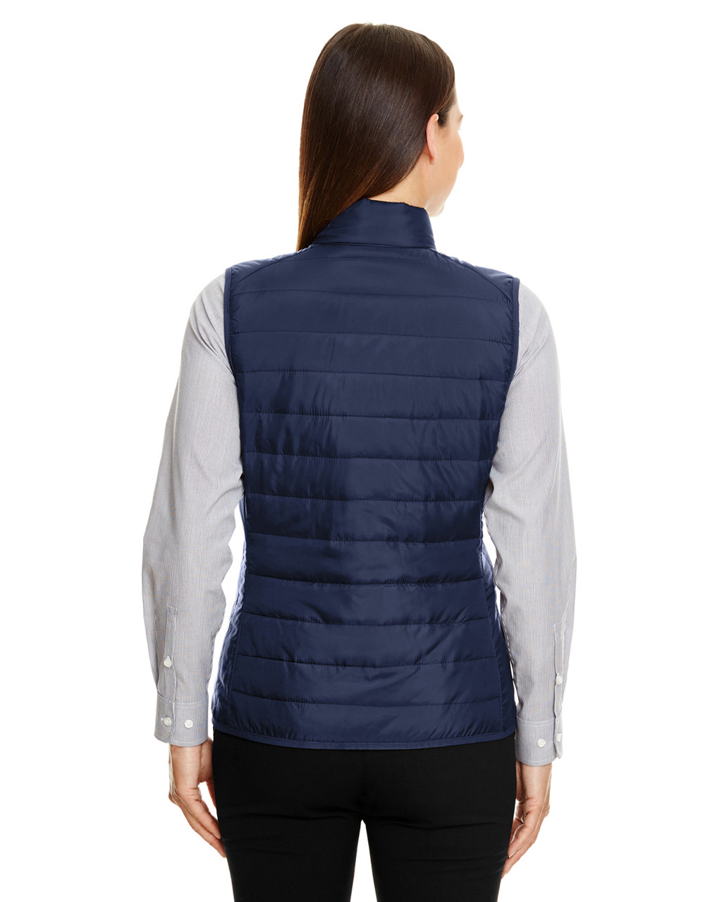 Classic Navy - CE702W Ash City - Core 365 Ladies' Prevail Packable Puffer Vest | Blankclothing.ca