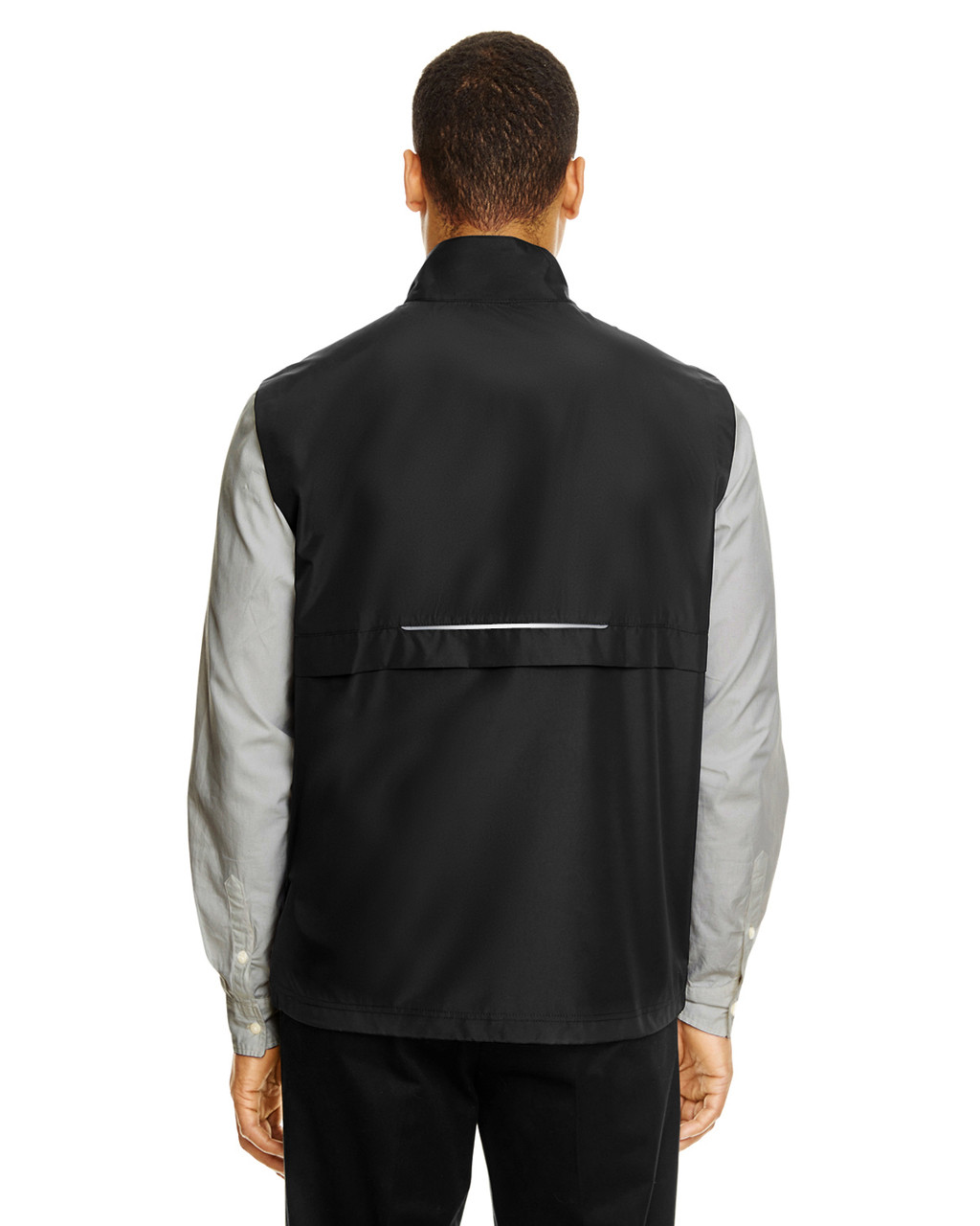Black - CE703 Ash City - Core 365 Men's Techno Lite Unlined Vest | Blankclothing.ca