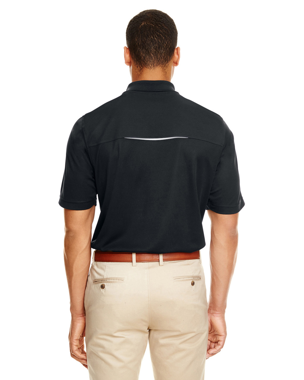 Black - 88181R Ash City - Core 365 Men's Radiant Performance Piqué Polo Shirt with Reflective Piping | Blankclothing.ca