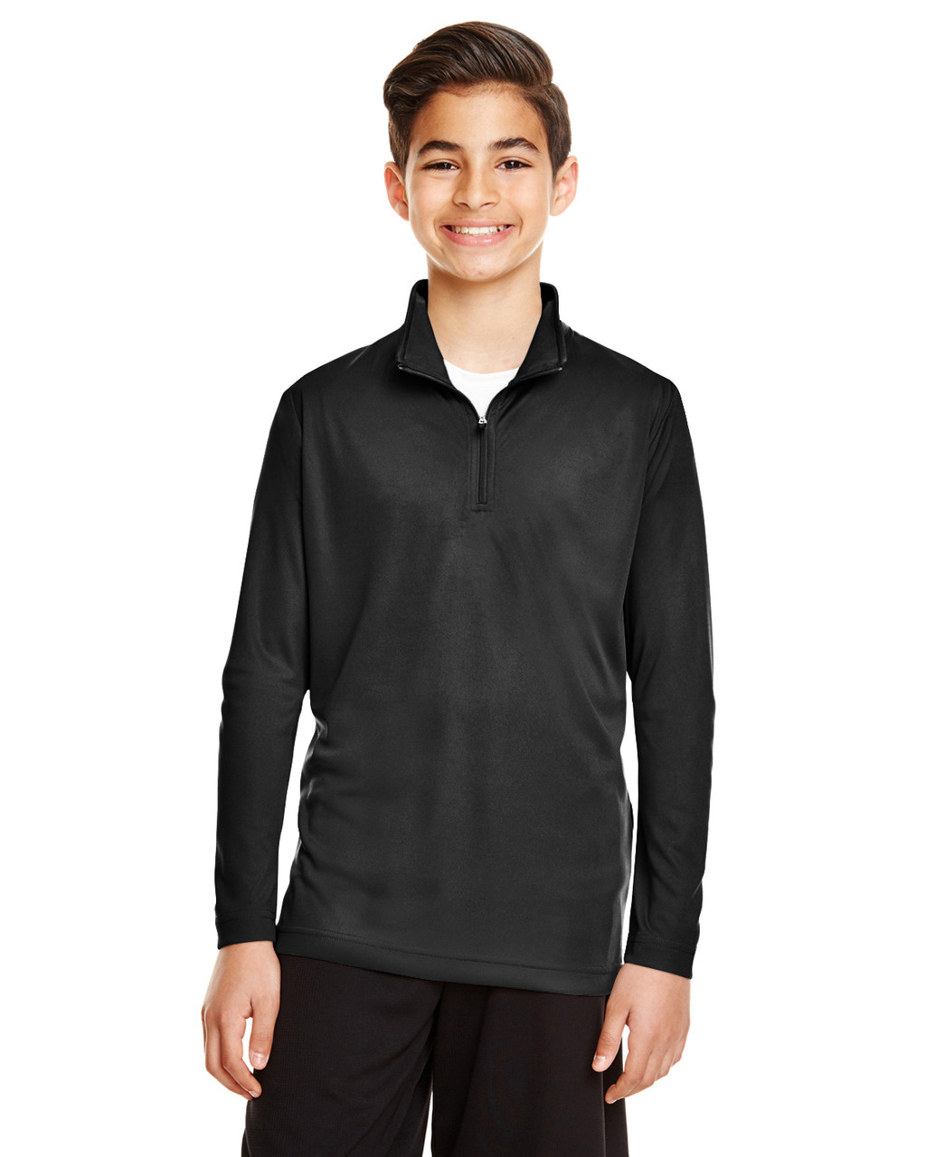 Black - TT31Y Team 365 Youth Zone Performance Quarter-Zip Shirt