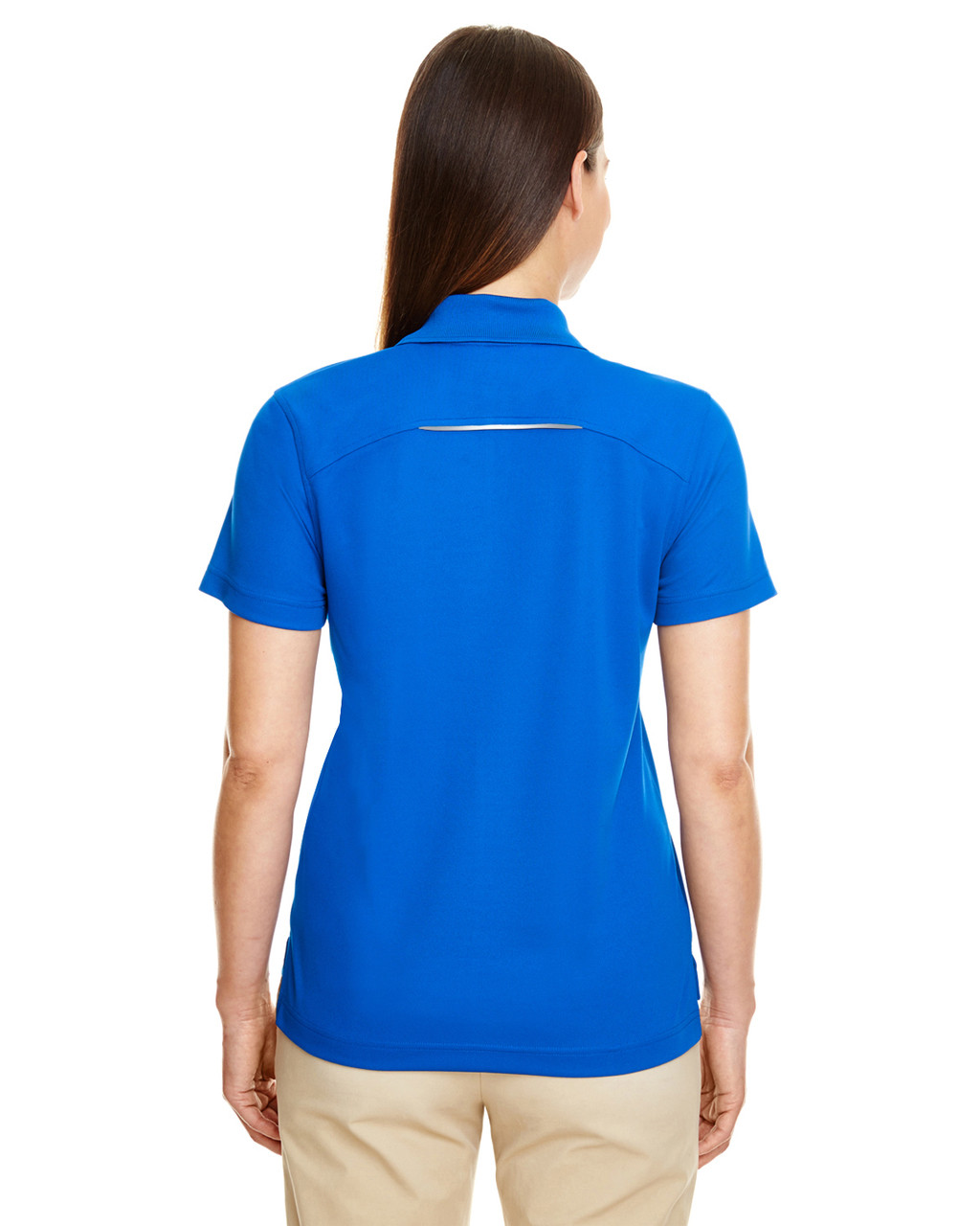 True Royal - Back 78181R Ash City - Core 365 Ladies' Radiant Performance Piqué Polo Shirt with Reflective Piping | Blankclothing.ca