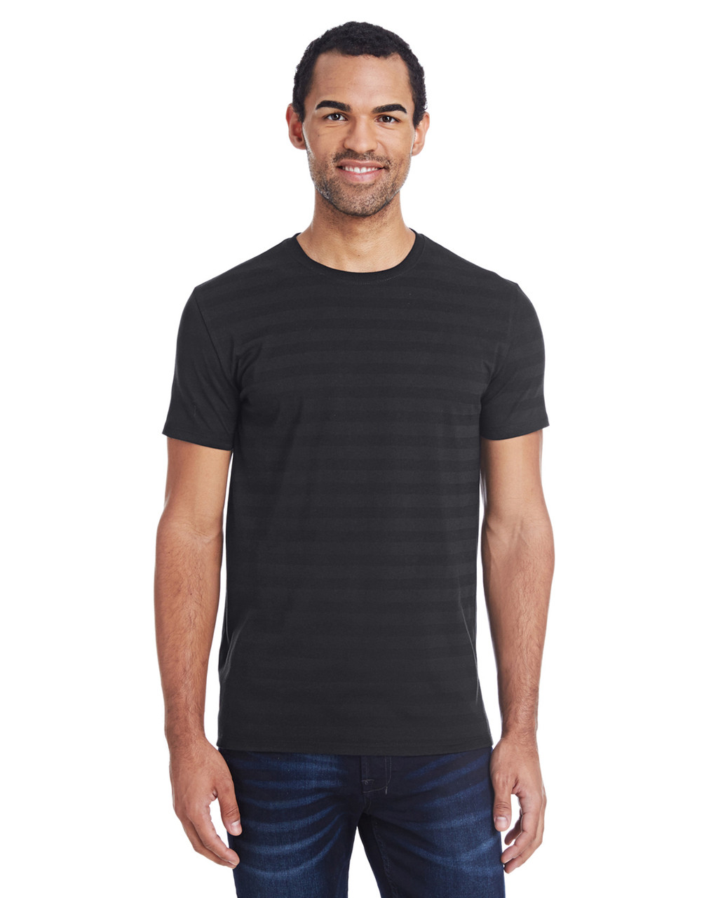 152A Threadfast Men's Invisible Stripe Short-Sleeve T-Shirt  | Blankclothing.ca