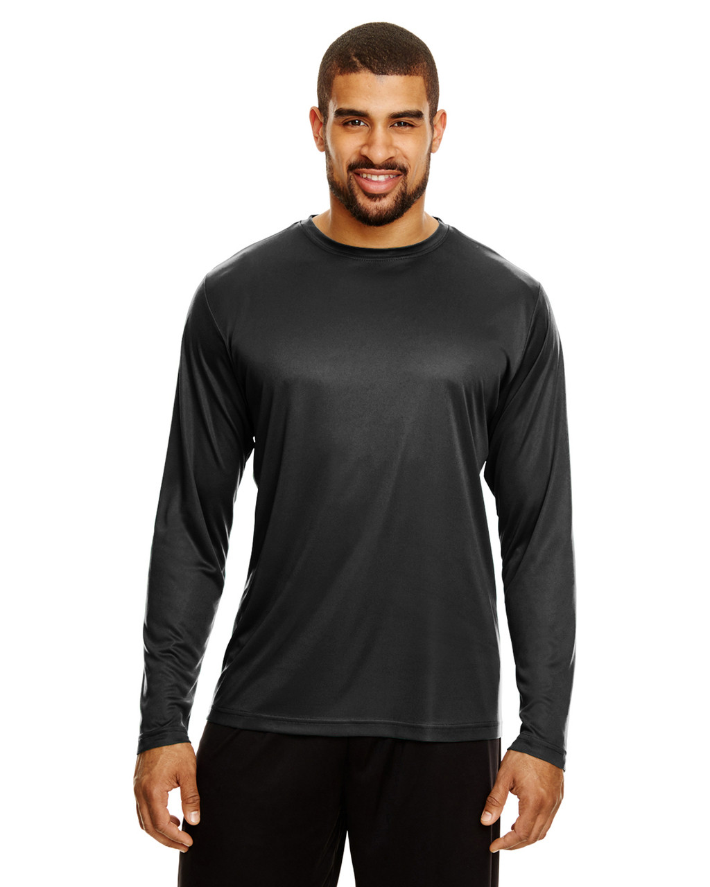 Black - TT11L Team 365 Men's Zone Performance Long Sleeve T-Shirt | BlankClothing.ca