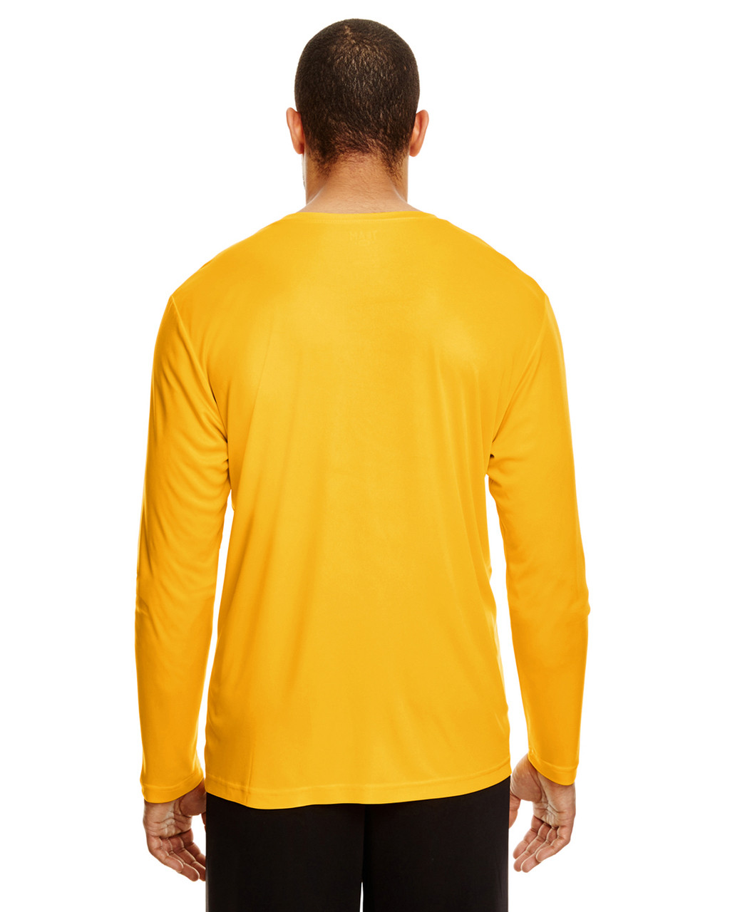 Sport Athletic Gold, Back - TT11L Team 365 Men's Zone Performance Long Sleeve T-Shirt | BlankClothing.ca