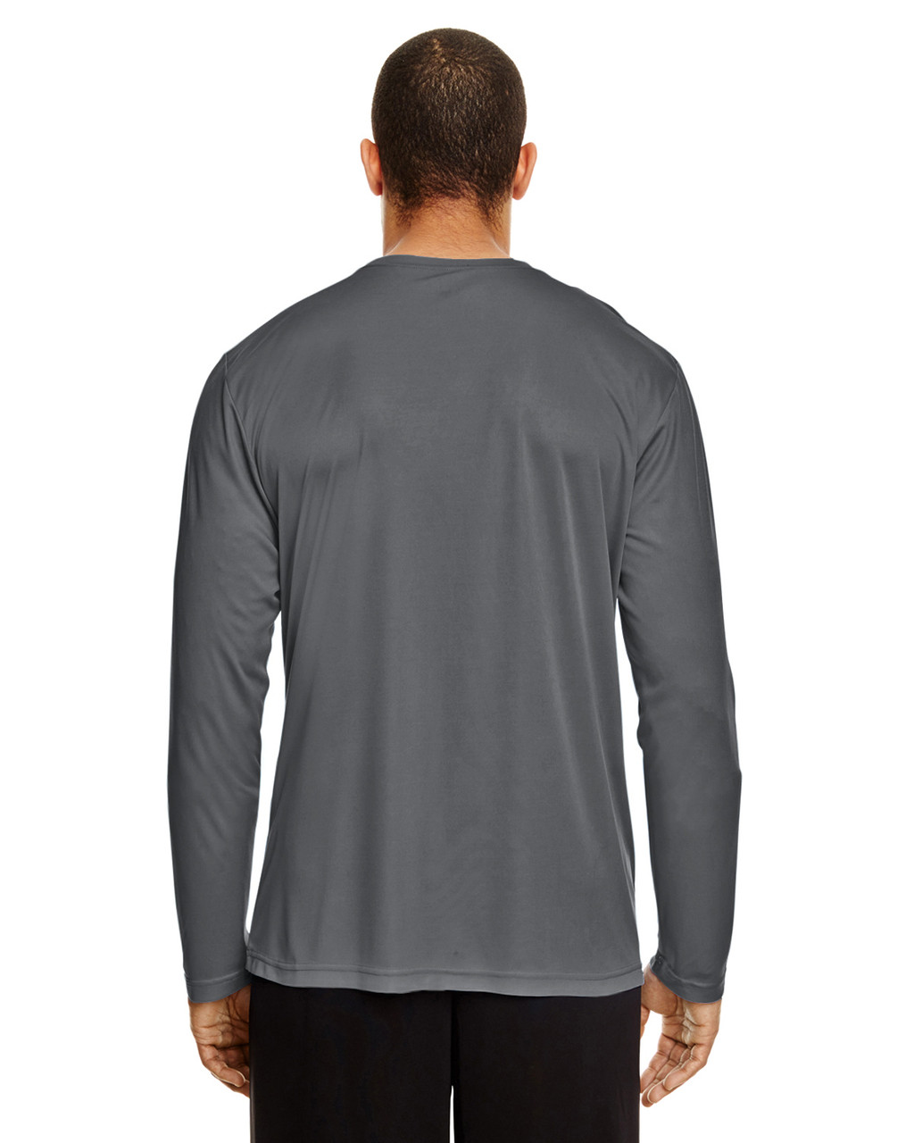 Sport Graphite, Back - TT11L Team 365 Men's Zone Performance Long Sleeve T-Shirt | BlankClothing.ca