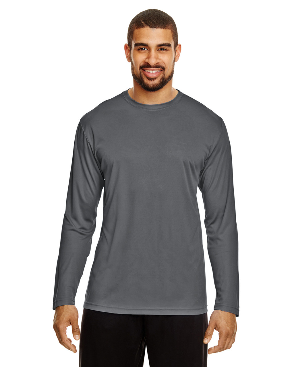 Sport Graphite - TT11L Team 365 Men's Zone Performance Long Sleeve T-Shirt | BlankClothing.ca