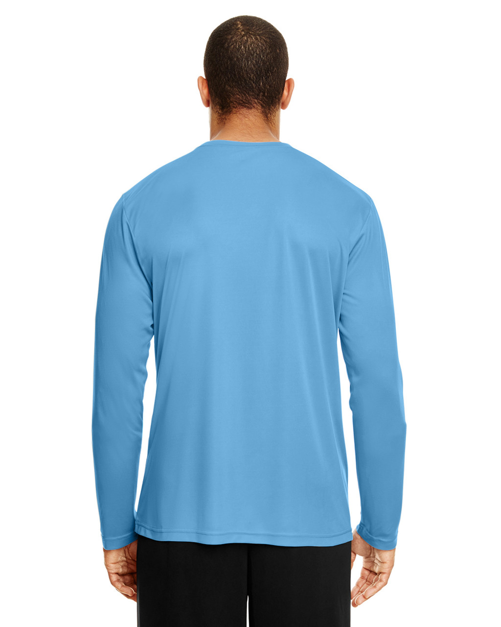 Sport Light Blue, Back - TT11L Team 365 Men's Zone Performance Long Sleeve T-Shirt | BlankClothing.ca