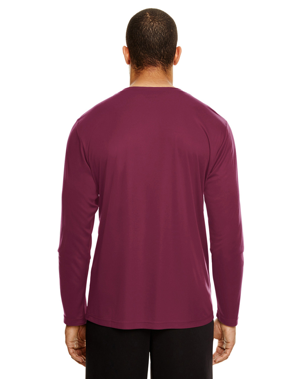 Sport Maroon, Back - TT11L Team 365 Men's Zone Performance Long Sleeve T-Shirt | BlankClothing.ca