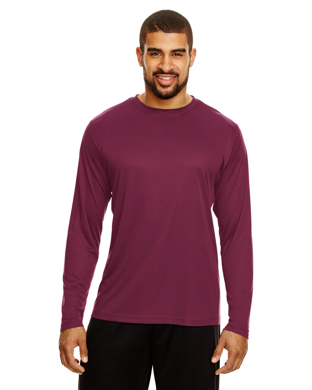 Sport Maroon - TT11L Team 365 Men's Zone Performance Long Sleeve T-Shirt | BlankClothing.ca