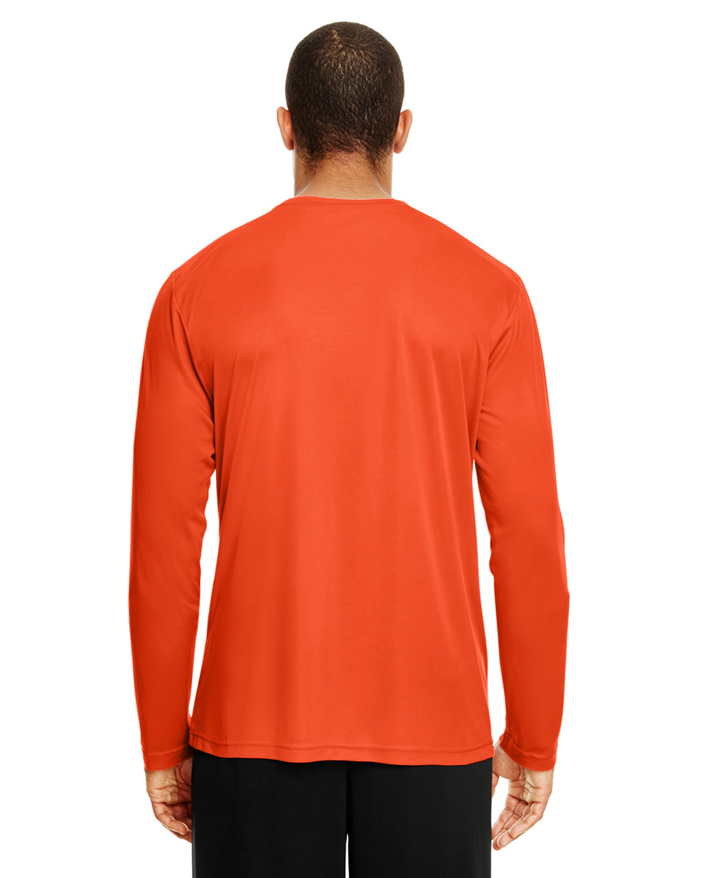 Sport Orange, Back - TT11L Team 365 Men's Zone Performance Long Sleeve T-Shirt | BlankClothing.ca