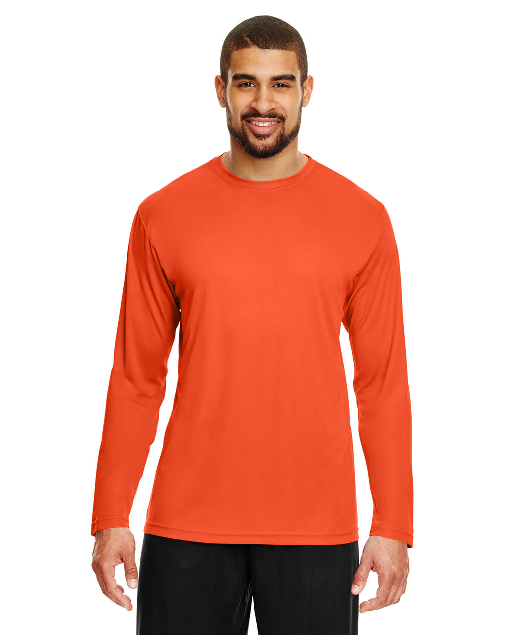 Sport Orange - TT11L Team 365 Men's Zone Performance Long Sleeve T-Shirt | BlankClothing.ca